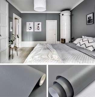 🚚 Dark Grey Matte Finish PVC Stickers