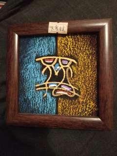 納西族 東巴文 手繪相架 共度未來 牆上掛飾