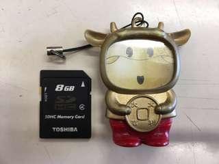 8GB + 4GB + 512MB SD卡 送牛牛SD卡電話繩
