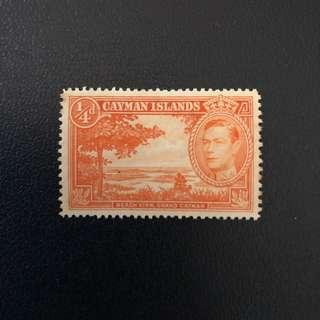 Stamp - Cayman Islands 1938 - Beach View , King George VII (MUH)