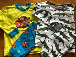 🚚 Bundle Long Sleeves Pyjamas Pajamas Carter's and Tow Truck