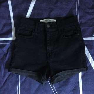 🚚 Abercrombie & Fitch Black High Waisted Shorts