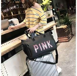 [LIMITED READYSTOCK] PINK TRAVEL BAG