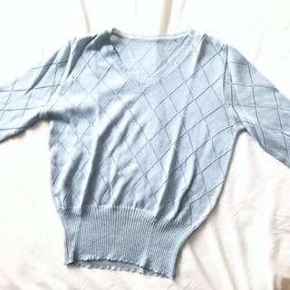 Light Blue Knit Top