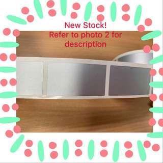 🚚 DIY Silver Coated scratch card sticker
