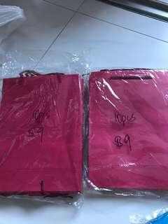 Red paper goodie bags 20pcs
