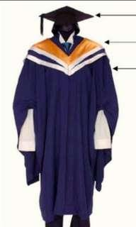NTU NBS business graduation gown
