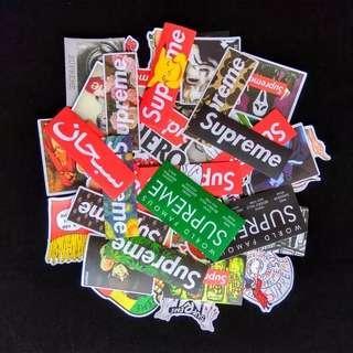 [FREE POS] Supreme World Famous Stickers Logo #APR75