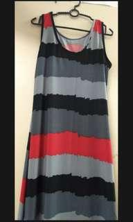 [free post sm] Sleeveless Beach Long Dress Strech Cotton #MMAR18