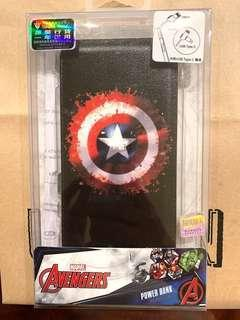 Power bank Avengers 8000mAh usb-c/micro usb
