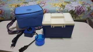 🚚 (全新)日本製插電加熱雙層午餐盒Lunch Box