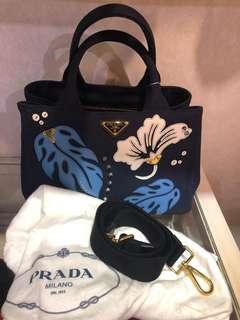 Brand new canvas prada bag
