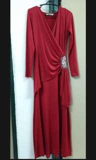 [free post sm] Heart Red Dinner Long Dress
