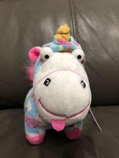 BN Authentic despicable me small unicorn plush with hoodie