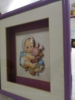 3D Baby Portrait with Frame