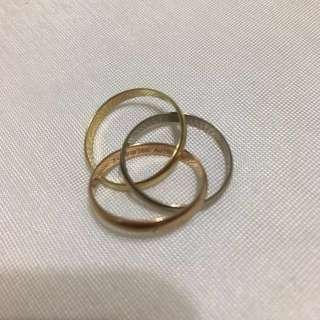 🚚 Cartier三色三環戒