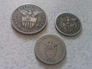 1919 50, 20, 5 Centavos USPI