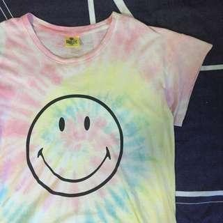 🚚 Cotton On Tie Dye Smiley Graphic Tee