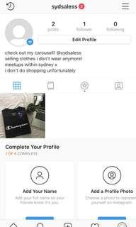 we have an instagram acc!