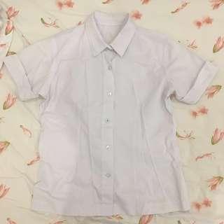 White Short Sleeve Polo #1