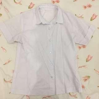 White Short Sleeve Polo #2