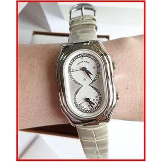 ORIGINAL Philip Stein Women's Prestige DIAMOND-Accented REAL DIAMONDS Stainless Steel Watch Brand New