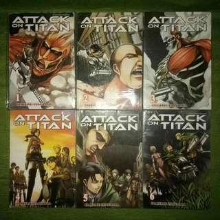 Set ATTACK ON TITAN manga #1-6