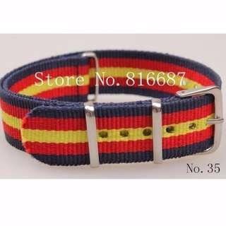 ⌚CASH N CARRY - 18mm Nylon NATO Watch Strap (Spain Flag Color)⌚
