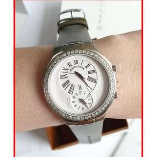 ORIGINAL Philip Stein Real Diamonds Classic Round Large Wrist Watch for Women Brand New