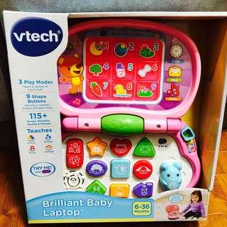 🚚 ~Ready Stocked~ VTech Brilliant Baby Laptop, Pink