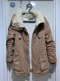 毛毛領內舖毛保暖外套