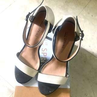 Call it spring white strap heels