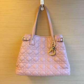 Dior lady dior 粉色肩背包