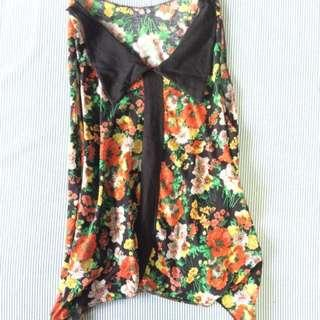 Floral Peter Pan Collared Sleeveless