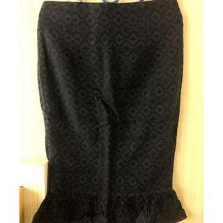 BLACK SPAN MERMAID SKIRT