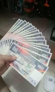 Old $50 Singapore notes (1 quantity)