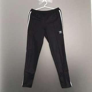 Adidas 3-stripe Trackpants in Black