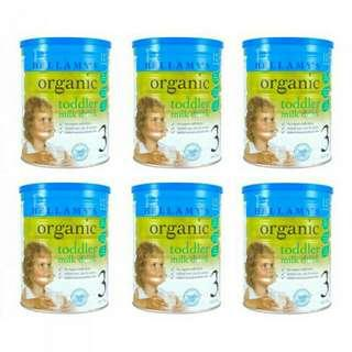PROMOTION Bellamy's Organic Toddler Milk Drink Step 3 - 900g X 6tins [Carton Sale] $229.90 only  INCLUDING FREE DELIVERY