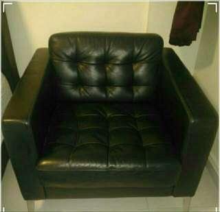 IKEA KARLSTAD - Genuine Sofa Leather with Metal Leg