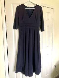 Navy Blue Dress Large