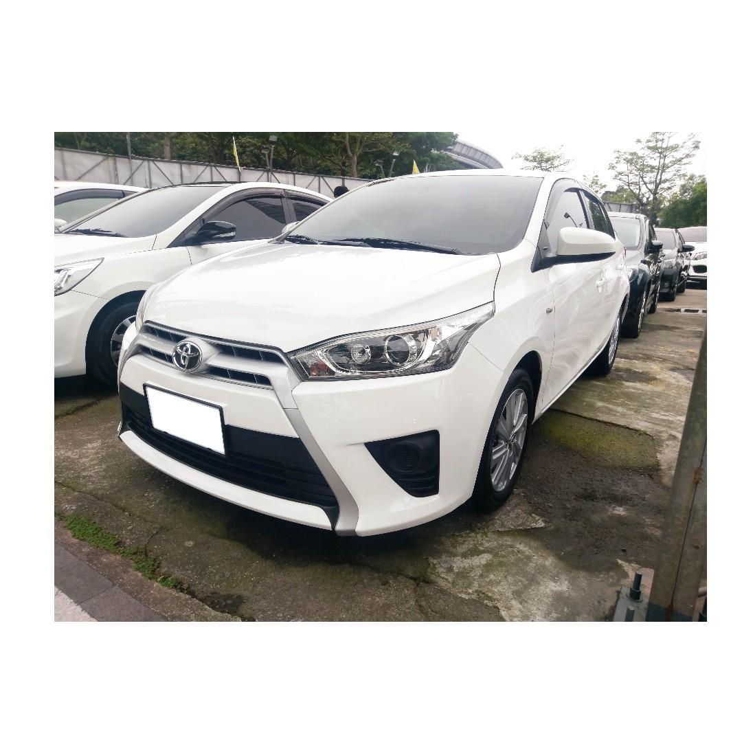 2014 Toyota Yaris 1.5 白 FB搜尋 : 『阿文の圓夢車坊』