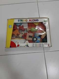 PL String along farm (wooden toy)