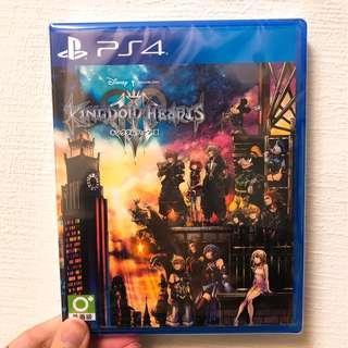 PS4 王國之心3 KINGDOM HEARTS III 亞日版 全新未拆封