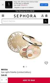 Becca eyeshadow palette