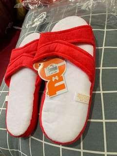 🚚 室內拖鞋便宜賣假藍白拖超可愛紅色藍白軟拖鞋