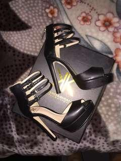 Kardashian Kollection strap back heels
