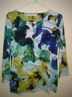 Calvin klein blouse lengan 7/8