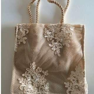 Women's Lace Tote Bag