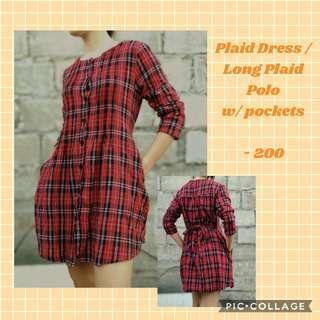 PLAID DRESS / LONG PLAID POLO
