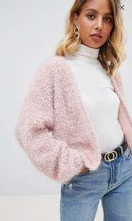 🚚 New look pink fluffy cardigan